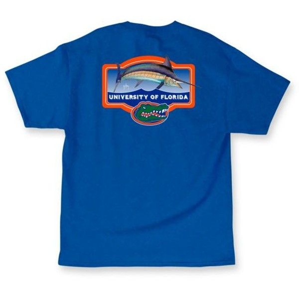 Guy Harvey  University Of Florida Masters Short Sleeve Graphic Tee (566.750 VND) ❤ liked on Polyvore featuring tops, t-shirts, royal blue, blue t shirt, graphic t shirts, cotton t shirts, royal blue t shirt and blue cotton t shirts