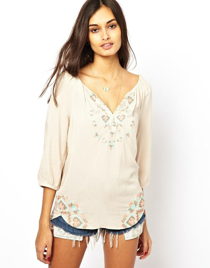 Asos : Embroidered Top