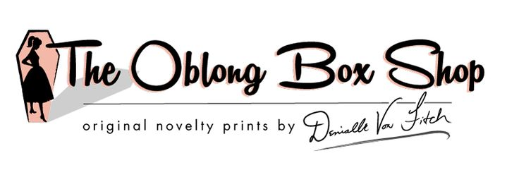 The Oblong Box Shop  Pinup dresses and novelty print skirts by Denialle Von Fitch.