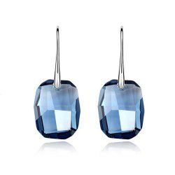 Silver Swarovski Elements Crystal Diamond Accent Wish Stone Fashion Earrings Studs Drop Set for women teenage girls kids children, with a Gift Box, Ideal Gift for Birthdays / Christmas / Wedding  Cost: $13.99