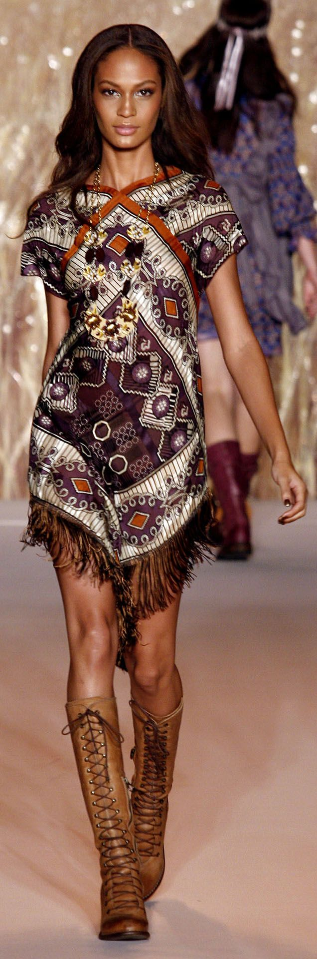 ✪ Native American Inspiration in Anna Sui Ready-To-Wear Spring/Summer 2011 ✪ http://www.vogue.co.uk/fashion/spring-summer-2011/ready-to-wear/anna-sui/full-length-photos# ♡ ℒℴѵℯ ♡ the Boots