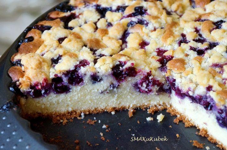 SMAKuKubek: Ciasto mocno borówkowe z kruszonką