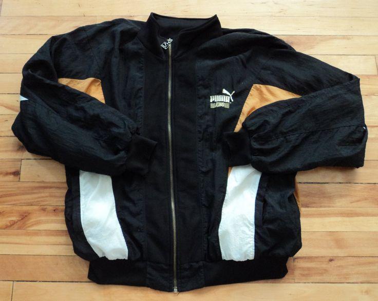 Vintage Puma Medium Zip-Up Windbreaker Jacket by StreetwearAndVintage on Etsy