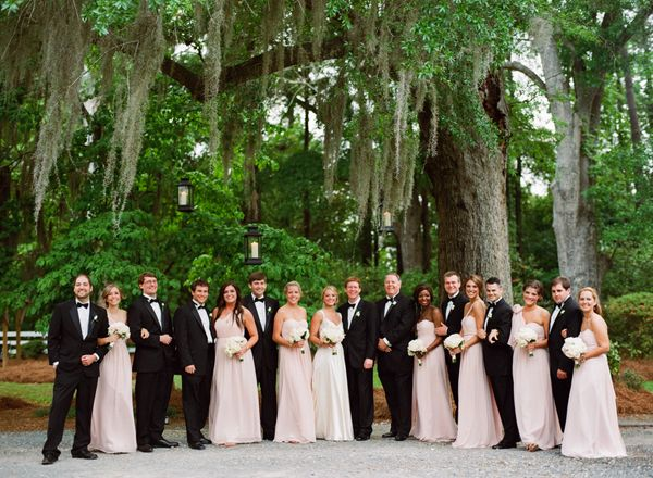 pink-and-black-bridal-party