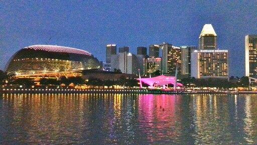 Beautifull night in singapore