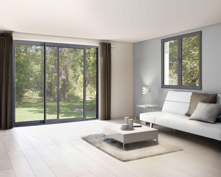 1000 ideas about fenetre coulissante alu on pinterest sliding windows por - Fenetre pvc couleur gris anthracite ...