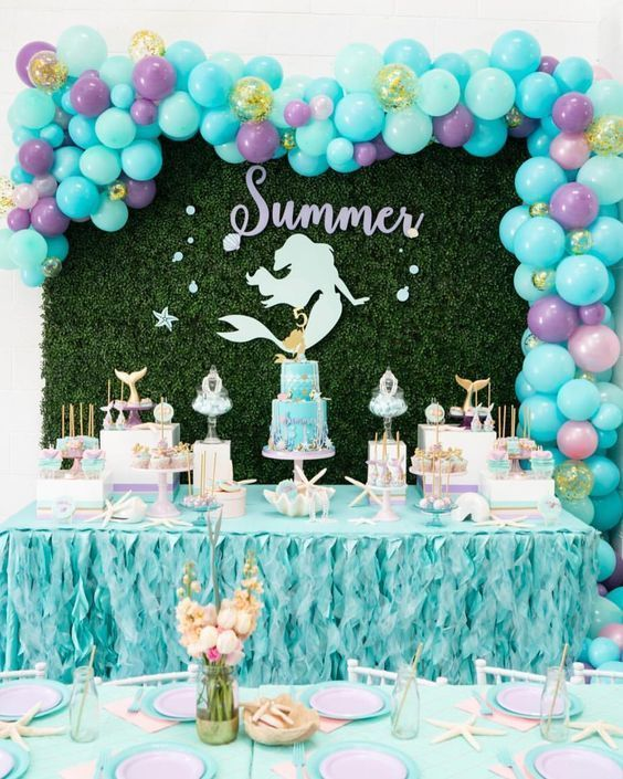 40 summer party decoration ideas pool party mermaid party rh pinterest com