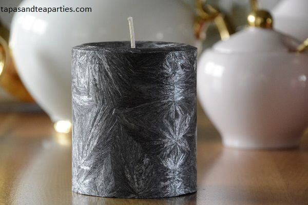 Our black pillar candle made to order.