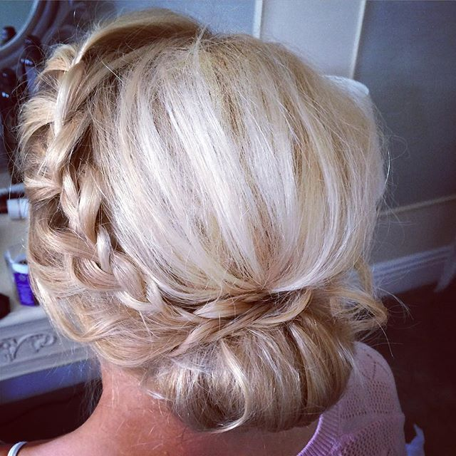 braided, low bun upstyle  Hair by Aisling Hamill