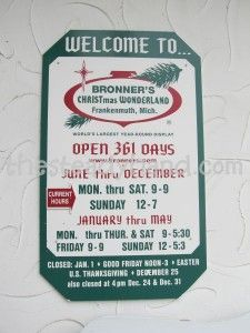 Bronner's Christmas Store – Frankenmuth, MI