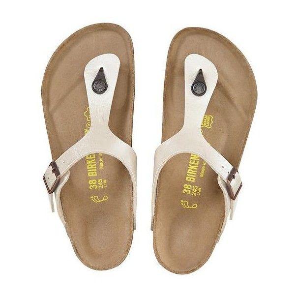Birkenstock Gizeh Flip Flop (€79) ❤ liked on Polyvore featuring shoes, sandals, flip flops, antique lace, lacy shoes, birkenstock, flip flop shoes, antique shoes en birkenstock sandals