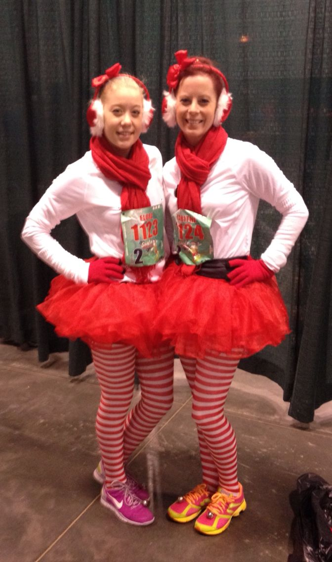 Christmas Running costume for the Surfin' Santa 10-miler in Virginia Beach, VA