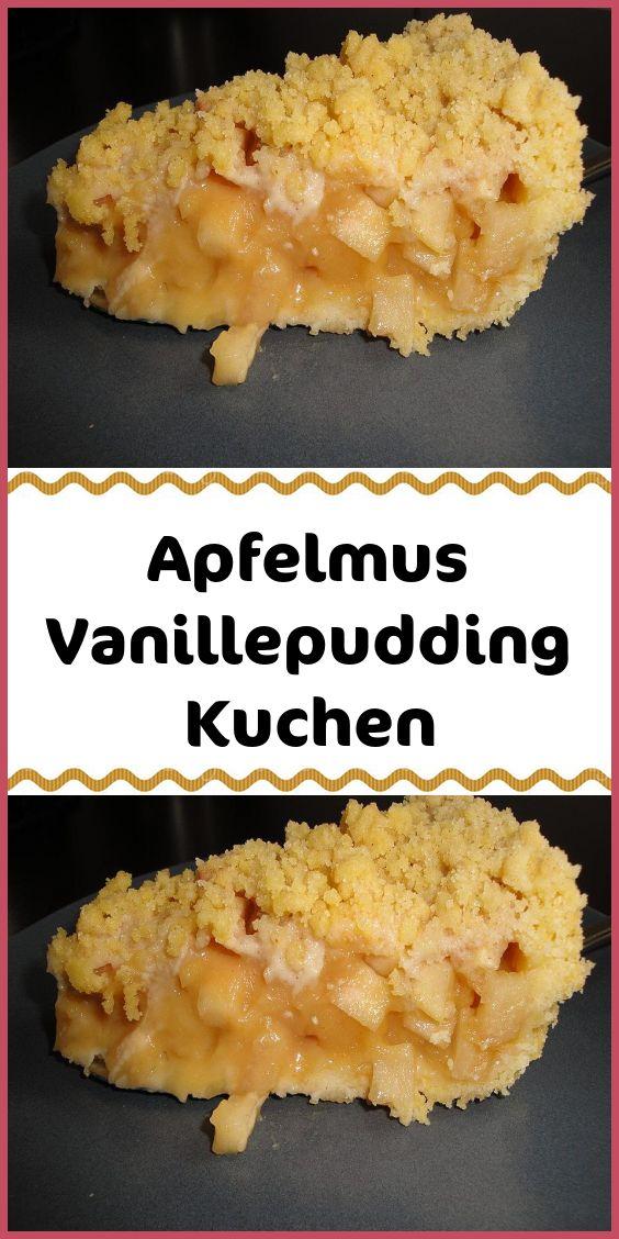 Apfelmus-Vanillepudding-Kuchen – Kuchen & Torten Rezepte