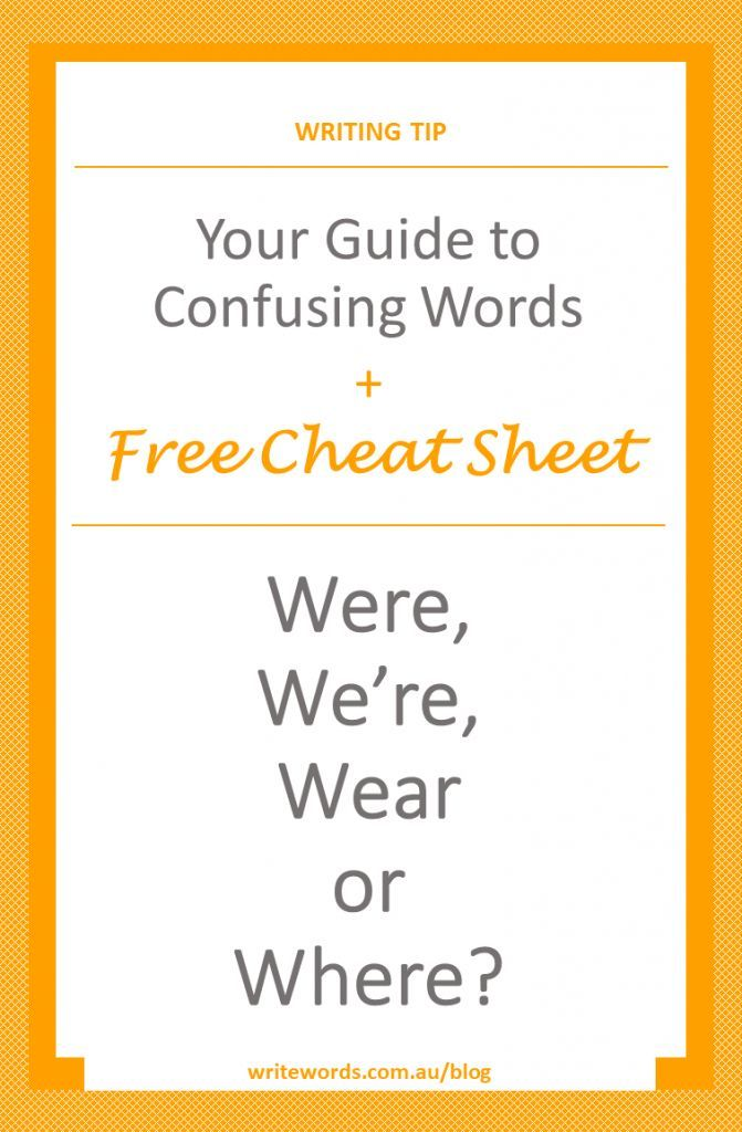Word choice and avoiding a conundrum – discover the difference between the commonly confused words were, we're, wear and where @wordchoice #confusingwords