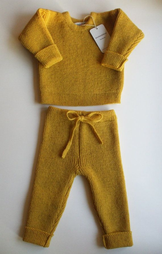 Babies/Children's knitted lambswool Sweater by Woolenfashionshop