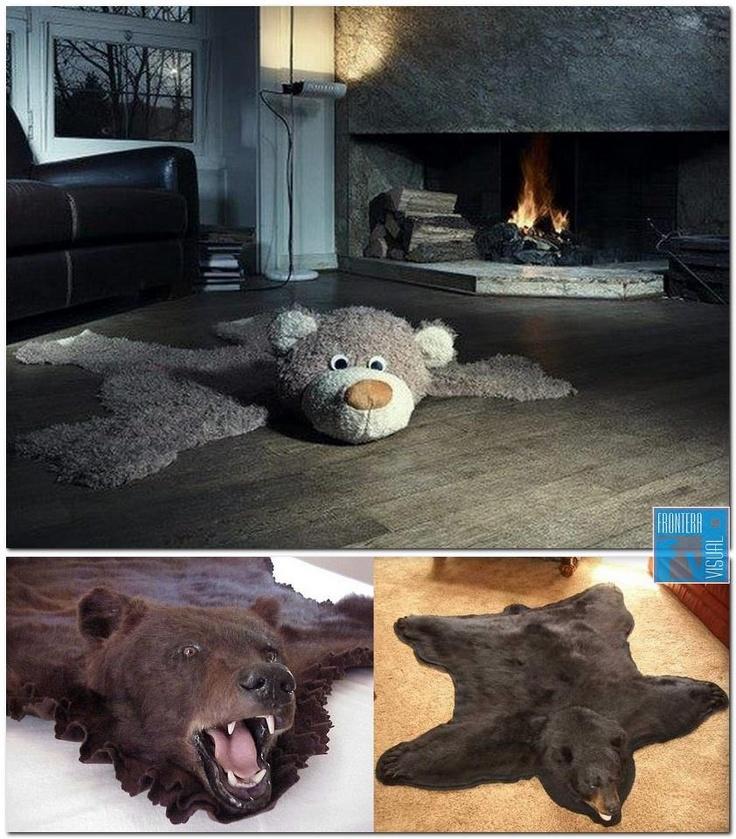 No es lo mismo... Tener mal gusto y dar miedo a tener buen 'rollo' y dar sonrisas. Nota: Es una vergüenza que siga habiendo tanto mercado de alfombras de piel de oso y otros animales ... increíble.