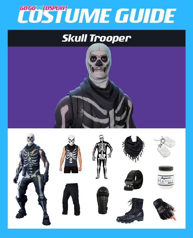Skull Trooper Costume Guide fortnite cosplay costumeideas skulltrooper