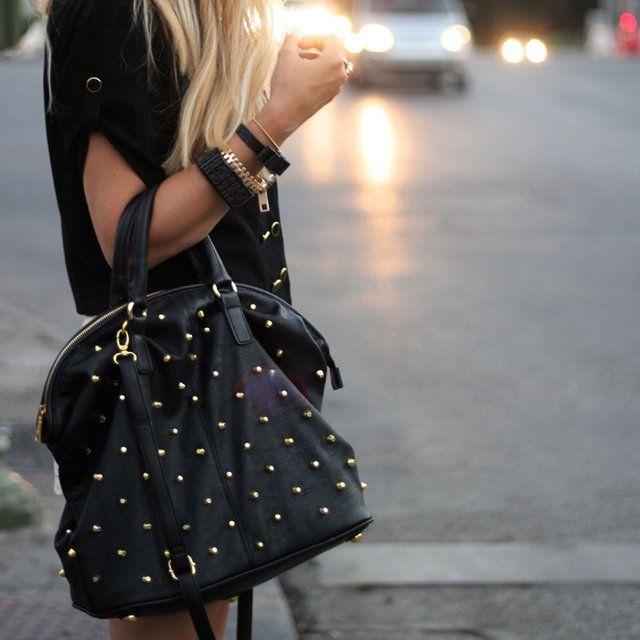 Fancy - Studded Top Handle Bag