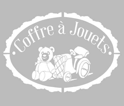 Pochoir Adhésif 30 x 20 cm PUB COFFRE A JOUETS