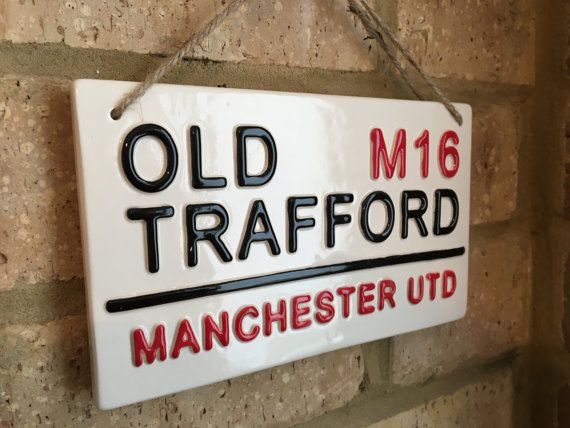 MANCHESTER UNITED-Old Trafford-Football Sign-Wall