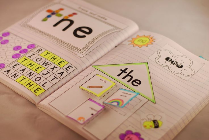 Sight Word Interactive Notebooks: lots of activities to choose from!