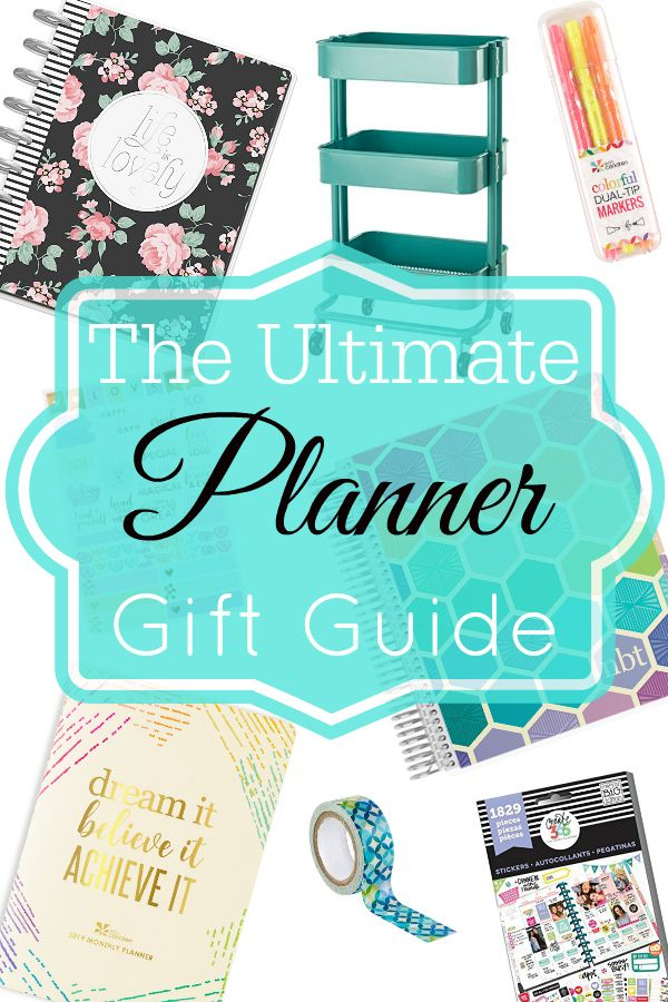 the ultimate planner gift guide planner and home management
