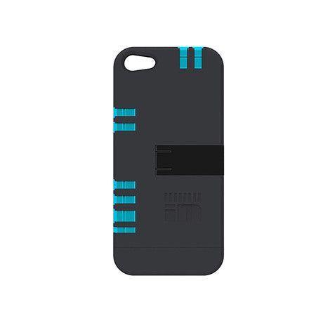 iPhone 5/5S Case // Black w/ Blue Tools