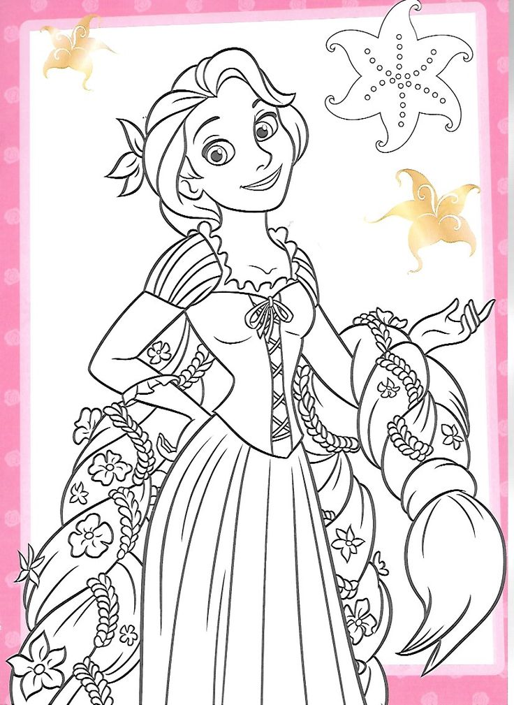 225 best coloriage raiponce images on pinterest tangled crayon art and princess - Coloriage proncesse ...
