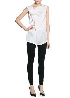 MANGO - CLOTHING - 2014 Preview - Tops - Chiffon asymmetric blouse