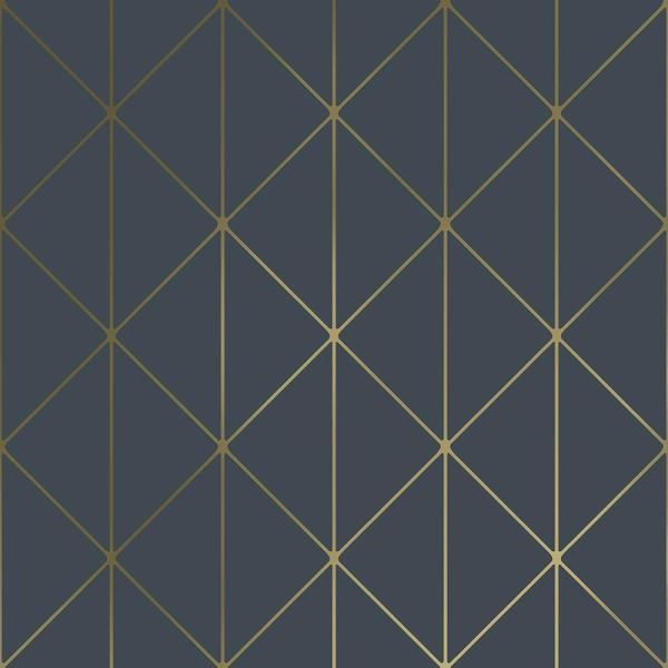 Engblad Co Diamonds Navy Geometric Paper Strippable Wallpaper Covers 57 8 Sq Ft 8804 The Home Depot Blue Geometric Wallpaper Metallic Wallpaper Gold Geometric Wallpaper