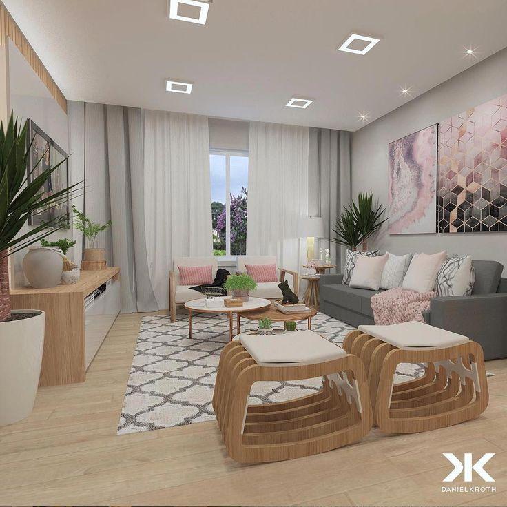 "DANIEL KROTH Instagram Architecture: ""Sala de estar e TV em boa harmonia …   – remodel living room"