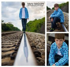Mary McGuire Photography: Urban Pre Teen Photo Shoot (love the reflection in the train tracks)
