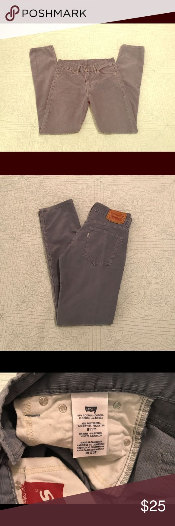 Levi's 511 Men's Gray Corduroy Pants EUC. Men's Gray Corduroy Skinny Pants. Size 28/32. Levi's Pants Corduroy