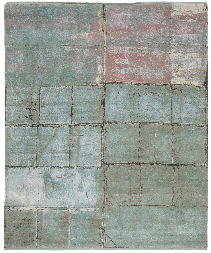 Contemporary rug / silk / wool / patterned BILLBOARD 1  JAN KATH - Contemporary Rug Art