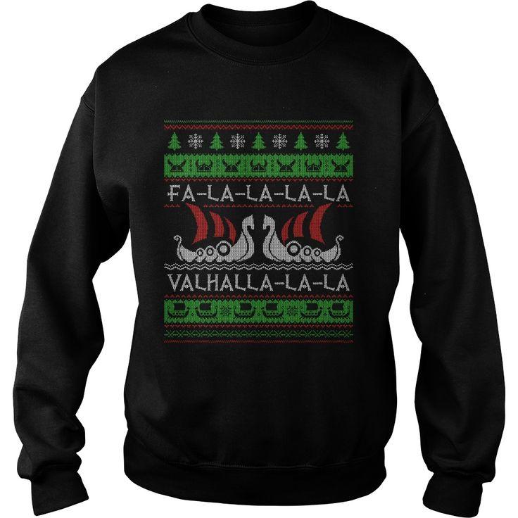Fa la Valhalla Merry Christmas Christmas Sweat Christmas Hoodie  Christmas Gift