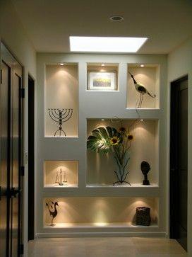 Drywall shelves art display niches - Contemporáneo - Hall y pasillo - Los Ángeles - de Tali Hardonag Architect
