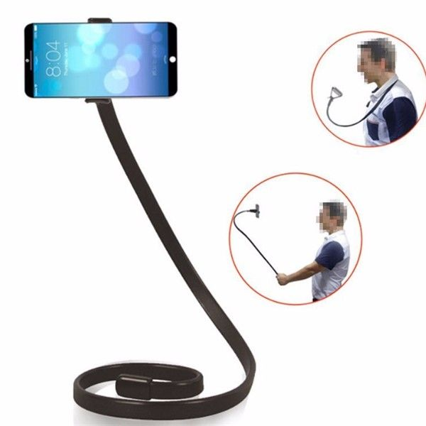 Universal 105CM 360 Degree Flexible Lazy Snake Flat Stand Holder Selfie Stick for Under 6 inch Smartphone