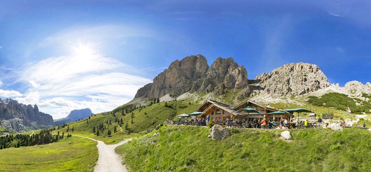 Rifugio Jimmyhütte - Grödner Joch / Kolfuschg / Alta Badia / Dolomiten Passo Gardena / Colfosco / Alta Badia Gourmet Südtirol