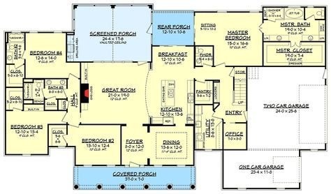 Flexible Southern Charm Home Plan - 51733HZ   Acadian, Southern, 1st Floor Master Suite, Bonus Room, Butler Walk-in Pantry, Den-Office-Library-Study, MBR Sitting Area, Split Bedrooms, Corner Lot   Architectural Designs