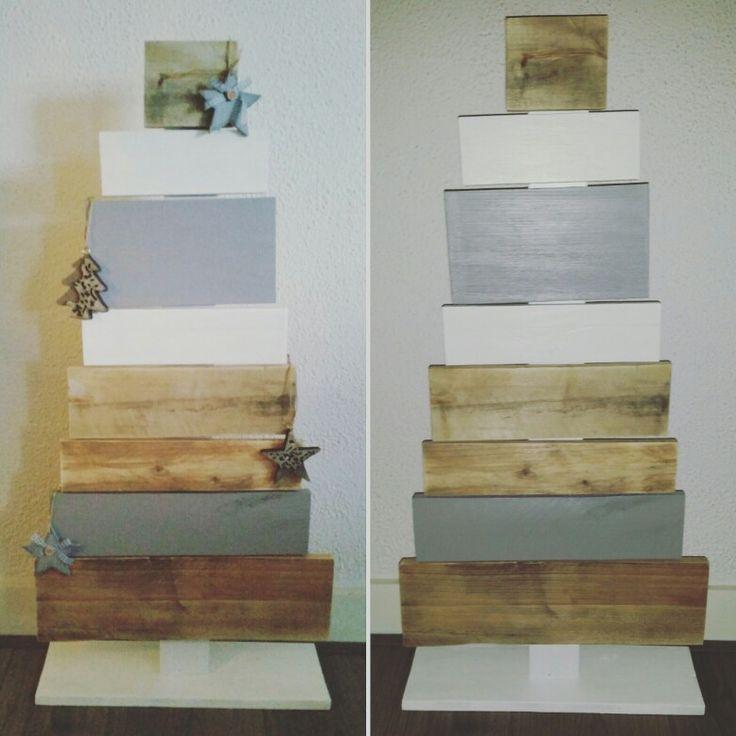 Diy/pallet/hout/kerstboom/zelfgemaakt/trots