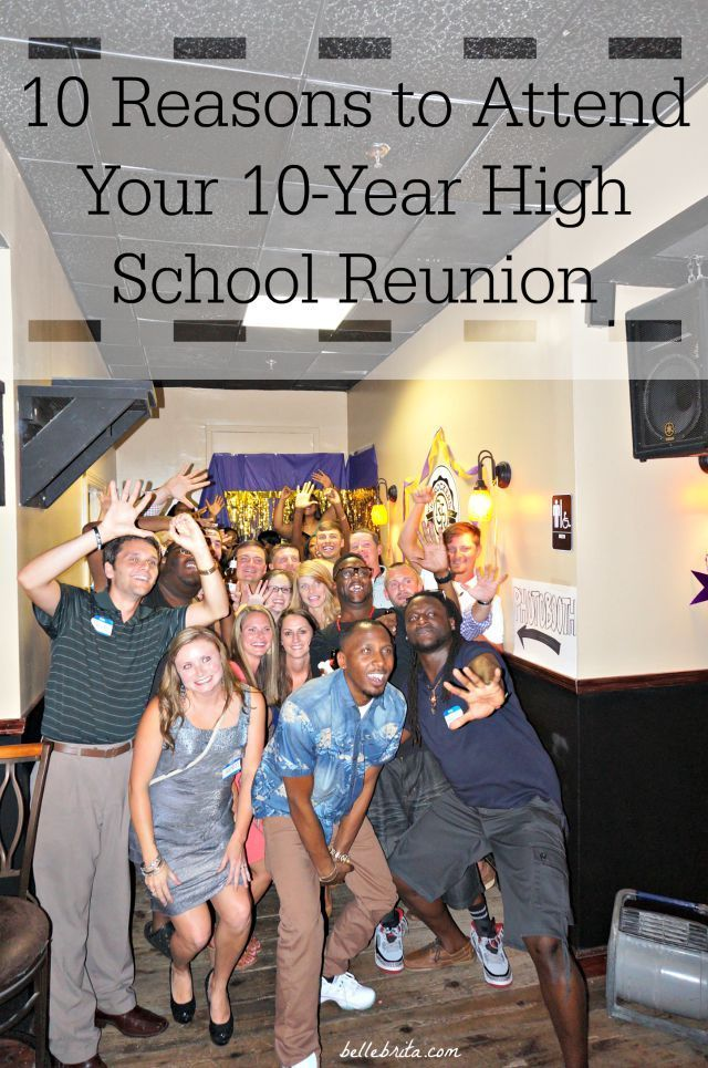 Is your high school reunion coming up soon? You should definitely go. Read the link to find out why.