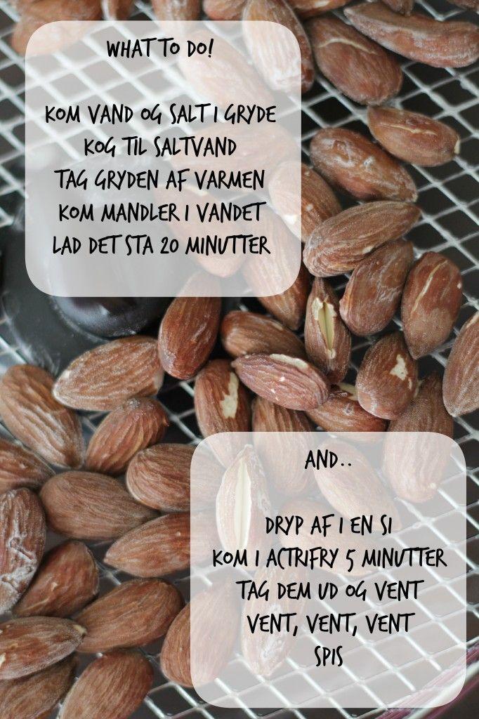 Hjemmelavede saltede mandler er nemmere end du tror. Find den nemme opskrift her.