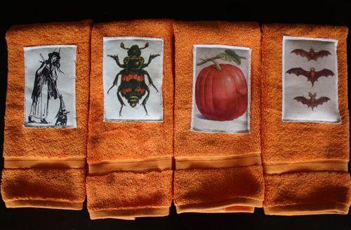 Halloween Handtowels tutorial - Yesterday on Tuesday