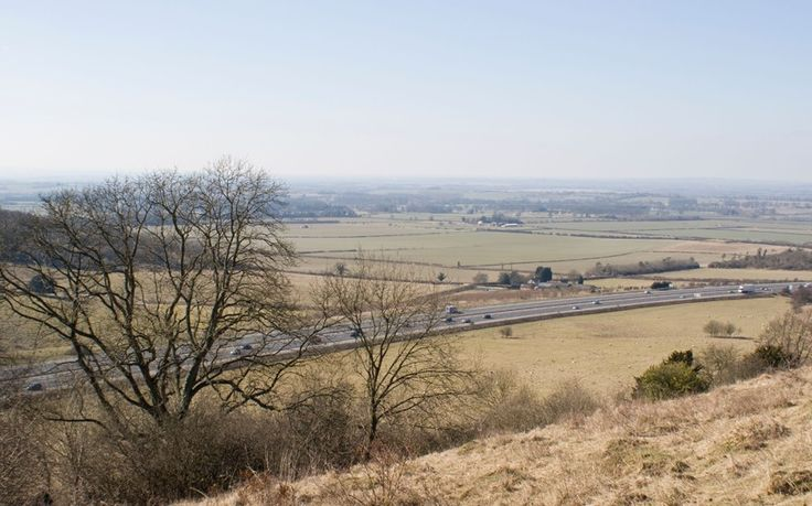 Top ten safest places to live in England. Chinnor, Oxfordshire (picture shows the surrounding countryside)