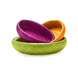 Oval Bamboo Nesting Baskets Multi Colors for baby toys