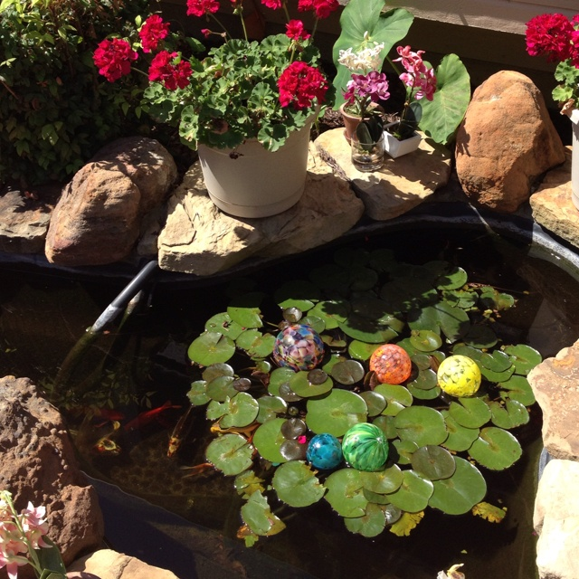 Decorative ornaments made for fish ponds decorative for Fish pond ornaments