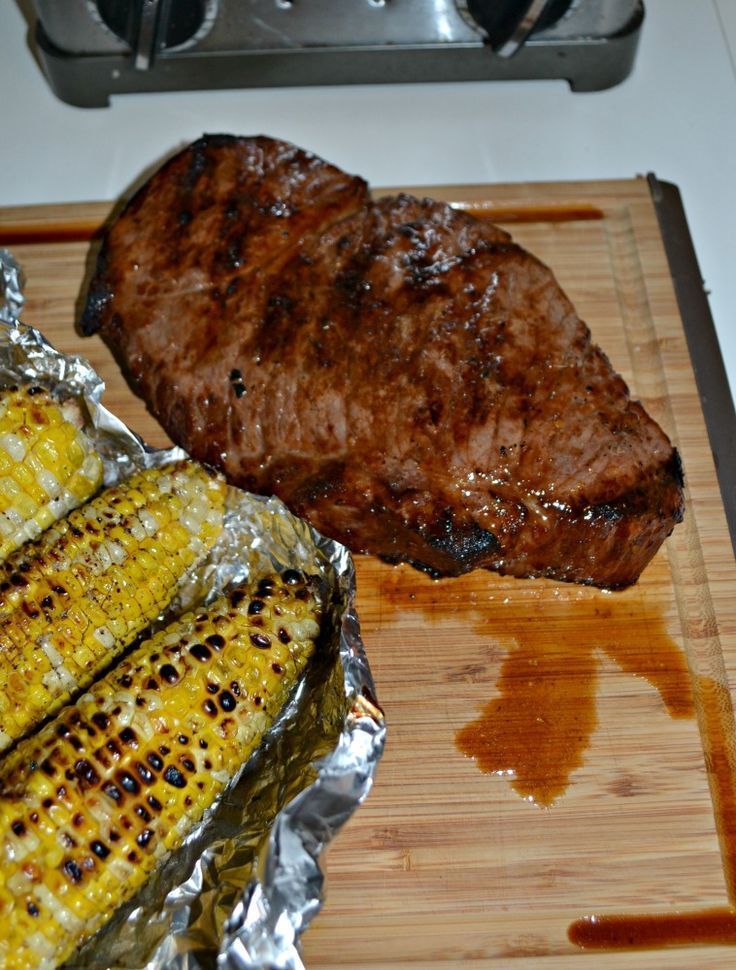 A delicious juicy London Broil made on the grill