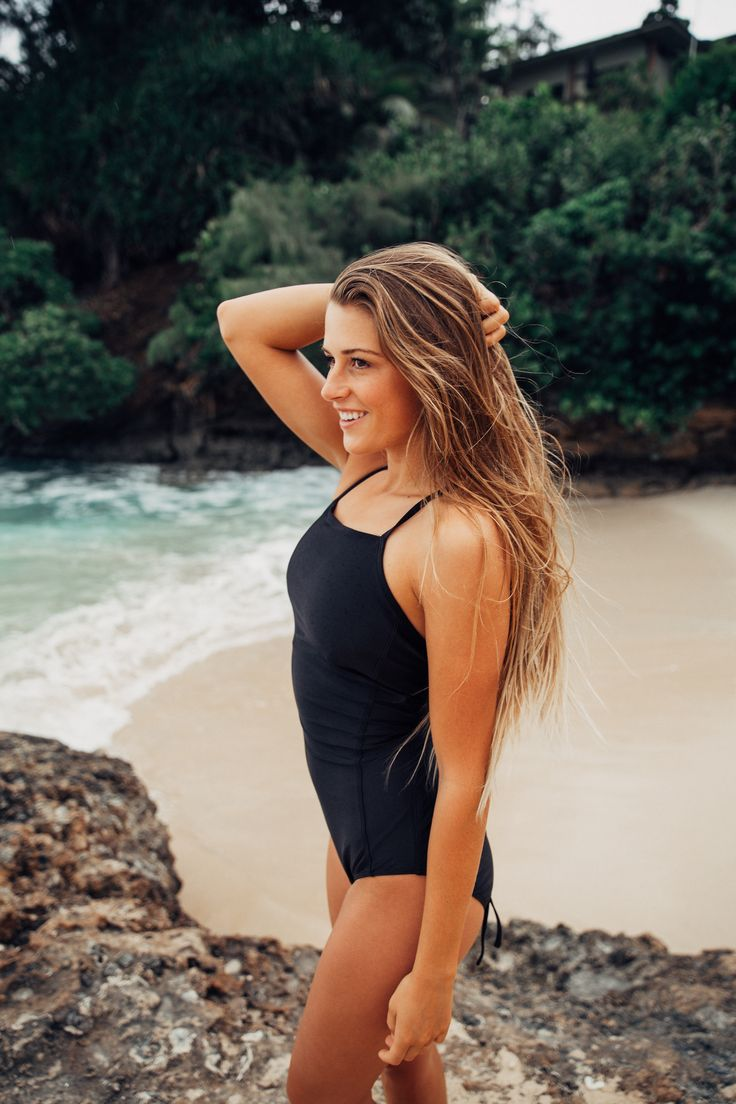 The Cove One Piece is a beautiful, slimming, sporty swimsuit perfect for surfing, hanging out by the pool and going swimming! You'll look good and feel even better in this suit! | @albionfit