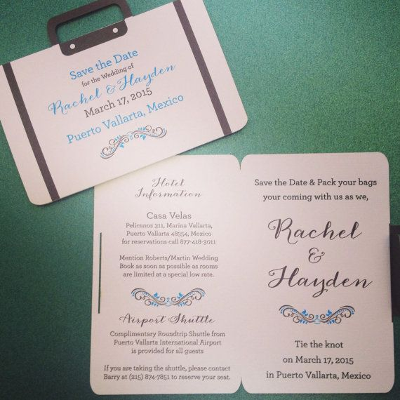 Suitcase Destination Wedding Invitation