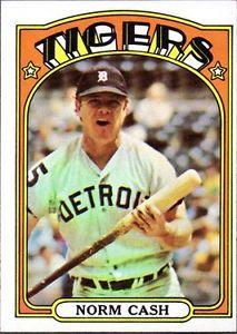 norm cash topps | 1972 Topps Norm Cash Detroit Tigers #150...
